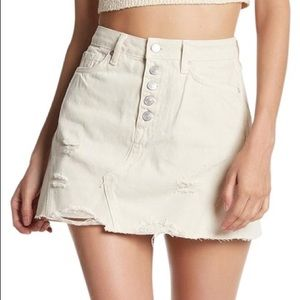 Free People Destroyed Raw Hem Mini Skirt Size 29
